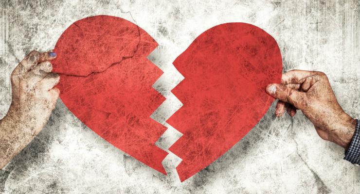 Plötsligt tar kärleken slut
